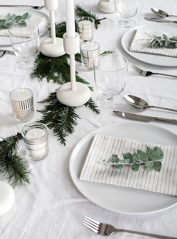 Table de Noël minimaliste