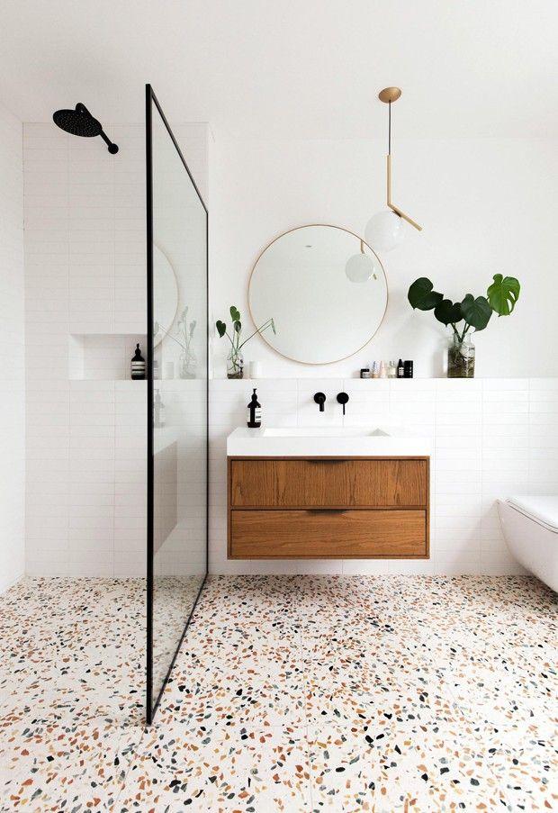 Salle de bain céramique terrazzo
